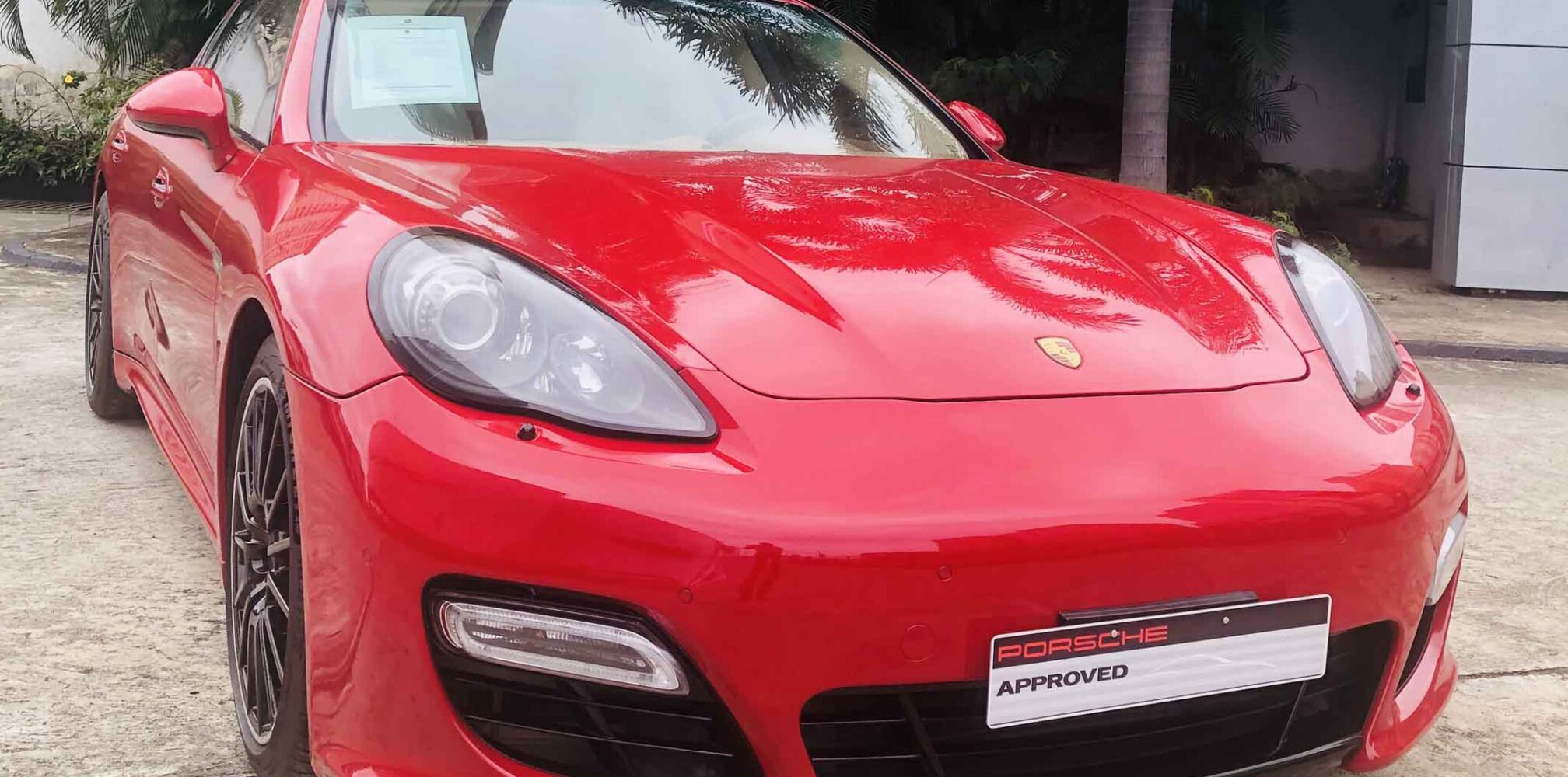stallion approved - porsche panamera gts front view
